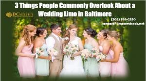 wedding limo Baltimore